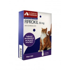 Clément Thékan Fiprokil Chat 50mg 4 pipettes
