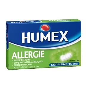 HUMEX 10 mg comprimé pelliculé allergie cétirizine Plq/7