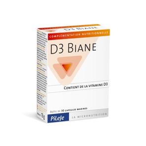 Pilèje D3 Biane 30 capsules