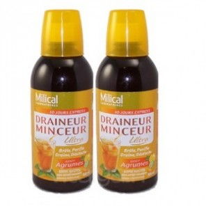 Milical draineur minceur ultra agrumes duo 500ml