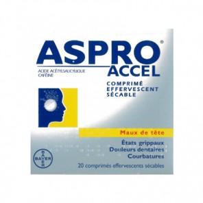 ASPROACCEL 20 comprimés effervescents sécables