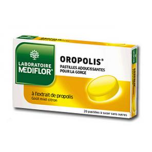 OROPOLIS Pastille sans sucre adoucissante miel citron B/20