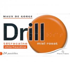 DRILL Pastille à sucer miel rosat B/24