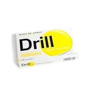 DRILL Pastille à sucer citron B/24