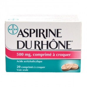 ASPIRINE DU RHONE 500 mg Comprimé à croquer bt/20