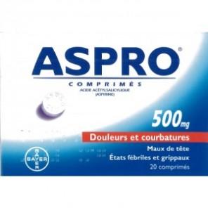 ASPRO 500mg 20 comprimés