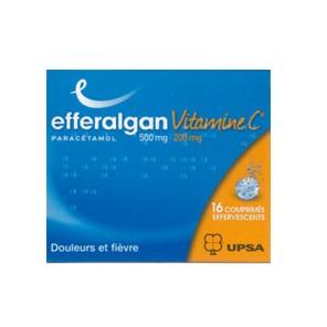 EFFERALGANVITAMINEC 500 mg/200 mg Comprimé effervescent T/16