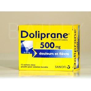 DOLIPRANE 500MG PDR AD SAC 12