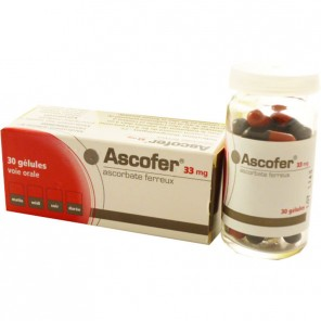 ASCOFER 33 mg, gélule
