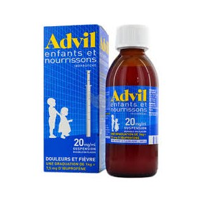 ADVIL 20 mg/1 ml Suspension buvable en flacon Fl/200ml