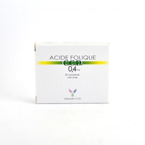 ACIDE FOLIQUE CCD 0,40MG CPR30