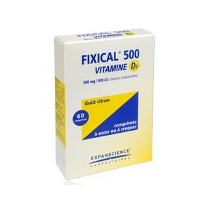FIXICAL VITAMINE D3 500 mg/400 UI, comprimé à croquer ou à sucer