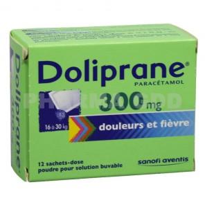 DOLIPRANE 300 mg poudre pour solution buvable 12 Sachets-doses