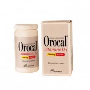 OROCAL VITAMINE D3 500 mg/400 U.I., comprimé à sucer