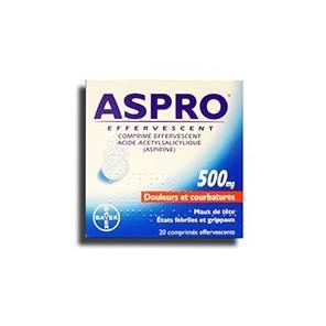 ASPRO 500MG CPR EFFV 36