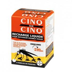 Cinq sur Cinq recharge liquide pour diffuseur 50 nuits