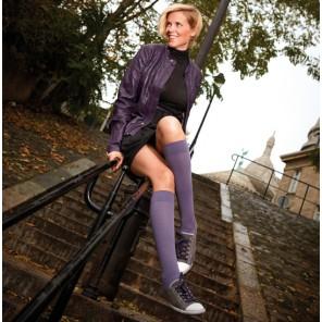 Venoflex Simply® Coton fin Chaussette Classe 2 Rose poudré T2 Long