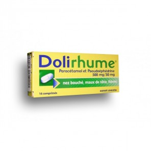 DOLIRHUME PARACETAMOL 500 mg/30 mg Comprimé B/16