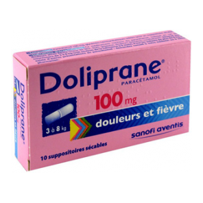 DOLIPRANE 100 mg Suppositoire sécable B/10