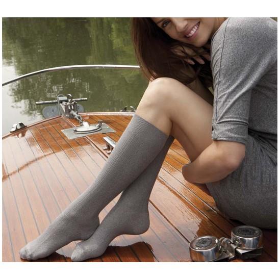 Venoflex Fast® Coton Chaussette Classe 2 Irlandais lin T3 Long