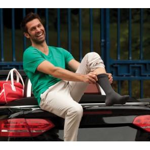 Venoflex Fast® Coton Chaussette Homme côte noir classe 2 T1 Long