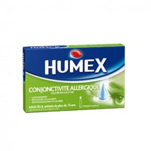 HUMEX CONJONCTIVITE ALLERGIQUE 2% collyre en solution en récipient unidose